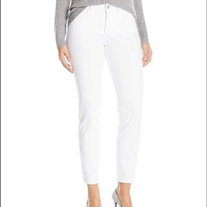 "NYDJ ""Clarissa"" White Ankle Jeans"